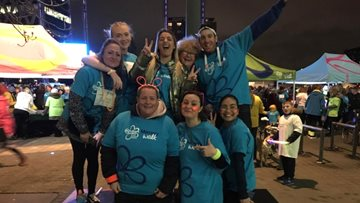 Averill House shows support to Alzheimer's Society with Ready Steady Glow walk