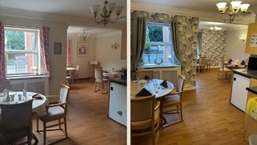 Coventry care home celebrate newly refurbished dining room opening