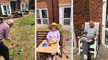 Whitley Bay care home Residents enjoy some fun in the sun