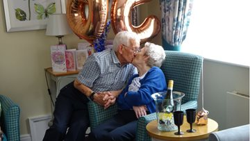Manchester Care Home Resident Celebrates 65th Wedding Anniversary