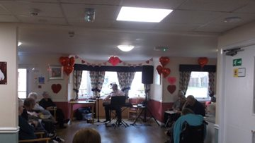 Valentine's Day celebrations at Glasgow care home
