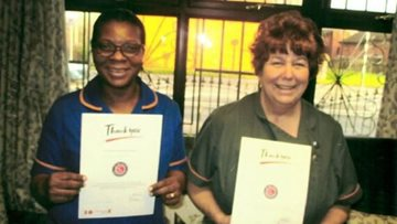 Colleagues celebrate long service awards at Audenshaw care home