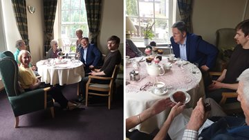 Local MP enjoys afternoon tea at Stirling Care Home