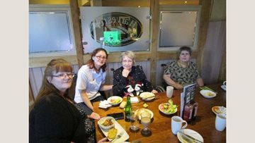 River Court care home Residents enjoy trip out for lunch
