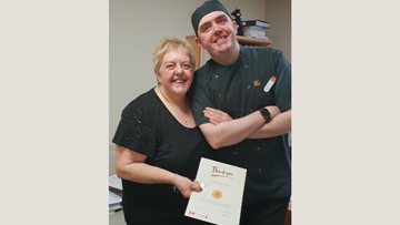 Glenrothes care home celebrates long service of dedicated Chef