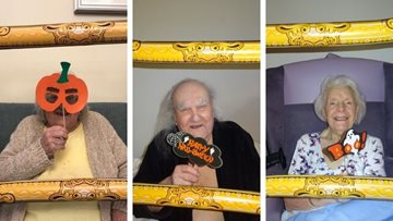 Halloween photo booth fun at Grimsby care home