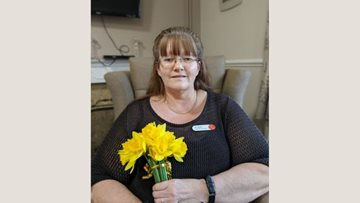 Watford care home Residents receive name badges