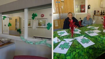 Scunthorpe care home Residents celebrate Paddy's day