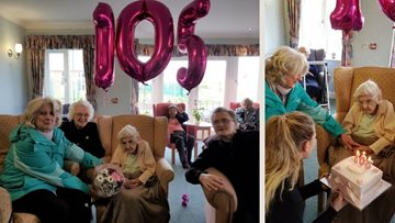 Centenarian celebrates 105th birthday at Redcar care home