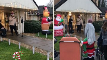 Christmas car park karaoke at Leicester care home