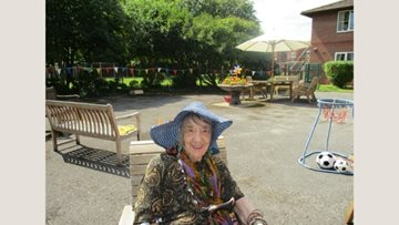 Branston care home Residents spend afternoon in the sunshine