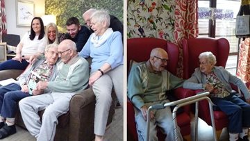 Couple celebrates diamond wedding anniversary at Oldbury care home