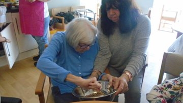 Resident cookery classes at Jarrow care home