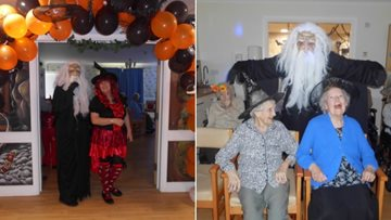 Residents enjoy the spookiest day of the year at Hartlepool care home