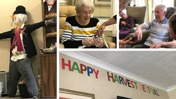 Harvest Festival celebrations are in full swing at Lincoln care home