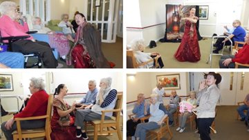 Calamity Jane show at Ayr care home