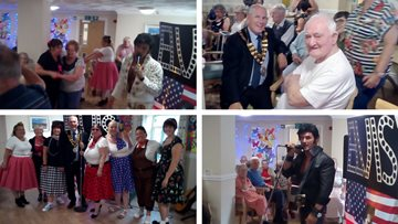 Sizzling summer party at Caerphilly care home