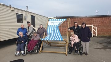 Kesteven Grange Residents enjoy a springtime getaway to Skipsea Sands