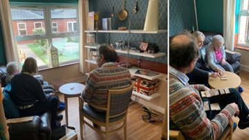 Residents enjoy quality family time in Victoria Mews' new reminiscence area