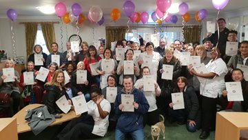 Glasgow care home celebrates dedicated workforce