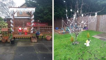 Stockton care home Colleagues turn garden into Winter Wonderland