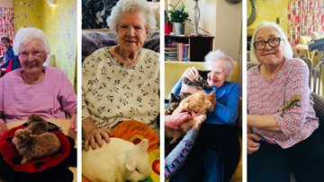 Animal therapy at Arbroath care home