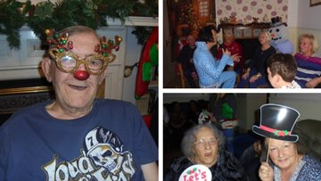 Rockin' around the Christmas tree at Whittlesey care home