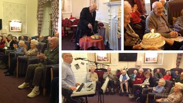 Edinburgh care home celebrates Burns Night