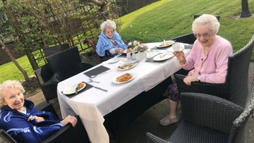 Resident celebrates birthday in style at Rochdale care home