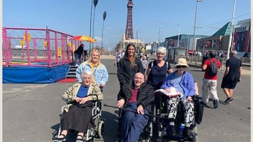 Wigan care home Residents enjoy sunny trip to Blackpool