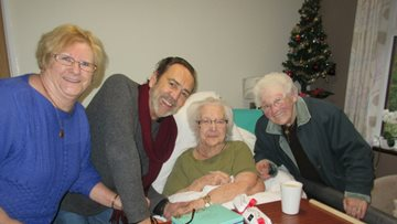 Actor Robert Lindsay Visits Ladywood Care Home