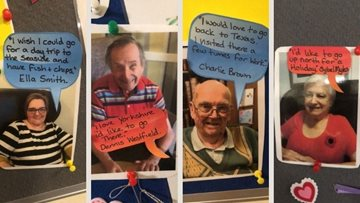 Falkirk care home Residents make their wishes for 2021