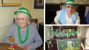 St Patrick's Day celebrations at Glasgow care home