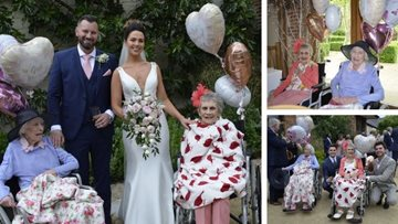 Hayes Care Home Residents Delight In Watching Granddaughter Tie The Knot