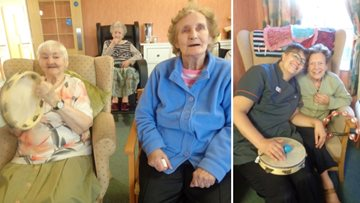 Residents enjoy musical morning at Roseberry Court