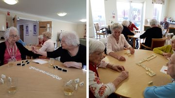Residents compete to be crowned dominoes champion at Rievaulx House