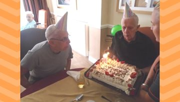 Resident at Willow Brook celebrates double Birthday