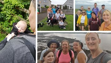 HC-One care home workers tackle 52 mile sponsored walk for Residents