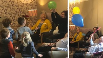 Old meets young at Cherry Willingham care home