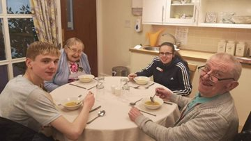 Local school children offer helping hand at Kirkcaldy care home