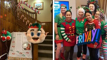 Poulton-le-Fylde care home supports Alzheimer's Society on Elf Day 2019
