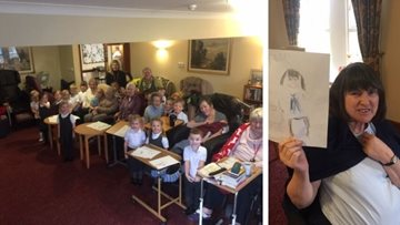 Kendal care home welcomes local school children