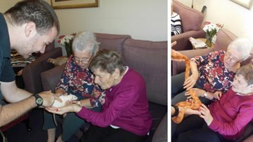 ZooLab visits Falkirk care home