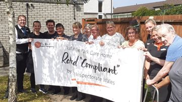 Caerphilly care home celebrates success in Care Inspectorate Wales report