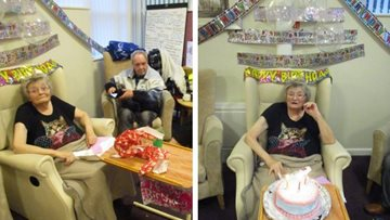 88 birthday candles at Leicester care home