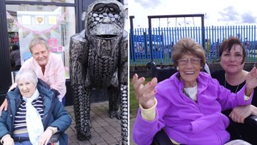 Residents enjoy a summer outing to Ayr
