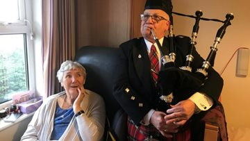 Residents at Quarry Hall enjoy a traditional Burns Night