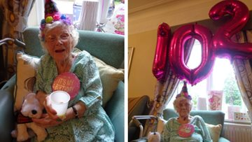Grimsby care home celebrates Betty's 102nd birthday