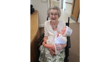 """Baby girl"" doll brings comfort to Memory Care Resident"
