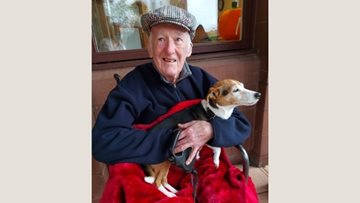 Glenrothes care home Resident visited by his much loved four-legged friend